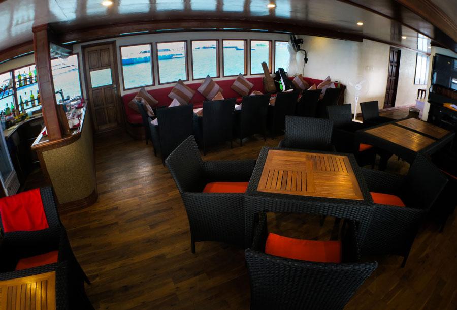 Main deck onboard Manta Cruise