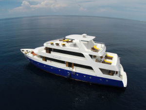 Manta Cruise Liveaboard rear view from Drone